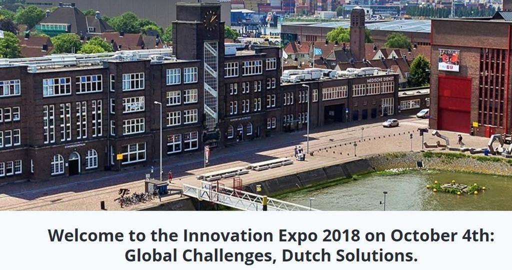 Innovation Expo 2018, 4 October, Rotterdam Eurostars meeting for SMEs Travel grant to Swedish R&D