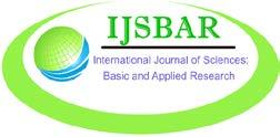International Journal of Sciences: Basic and Applied Research (IJSBAR) ISSN 2307-4531 (Print & Online) http://gssrr.org/index.php?