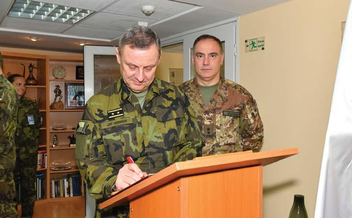 A VISUAL OVERVIEW 17 APR 2018 KFOR Commander, Major General Salvatore Cuoci, met Mr