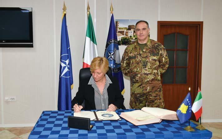 of Defence Roberta Pinotti, at KFOR Headquarters.