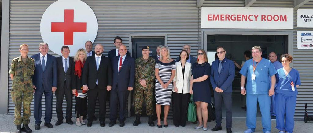 Alain Duschène, LUX CHOD, along with Luxembourg representatives in NATO, Foreign affairs and Health travelled to Kosovo, into CFC to view the Role 2 hospital