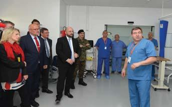 The party concluded their visit by observing for themselves, the state of the art Role 2 Hospital facility to get a feel and a hands on brief from the staff
