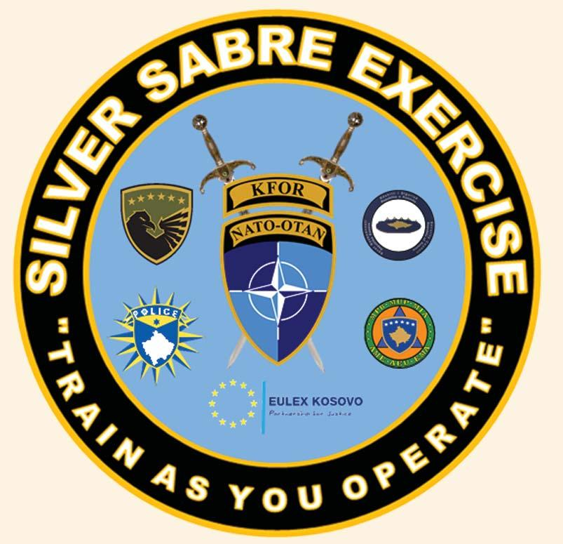Security Force (KSF) to test their readiness and interoperability while working within each unit s particular mandate. Silver Sabre is one of the most important exercises led by KFOR.