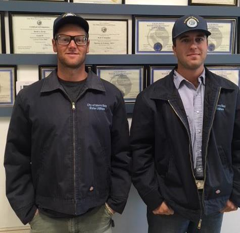 This month the Utilities Department welcomed aboard two new operations staff, Paul Valley and Grant Garcia.