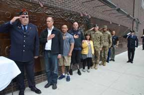 Spartan Pledge To fight the suicide epidemic, veterans vow to serve and be there for one another From left: Retired New York firefighter Danny Prince, retired Marine Steve Danyluk, DAV member Bobby