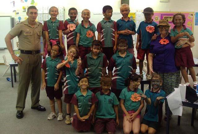 Tiger Tales Issued, April May Page 10 ANZAC TRADITIONS SHARED WITH WULAGI PRIMARY SCHOOL On Friday the 23 rd of April 2010, PTE Joshua De Backer departed Binh Ba Lines for Wulagi Primary School to