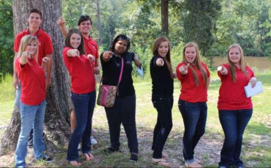 Pictured from left to right: Emily Stephenson, Alyssa Minx, Dalton Scarlett, Nathan Ingram, Taylor Morgan, Andrea Minix,