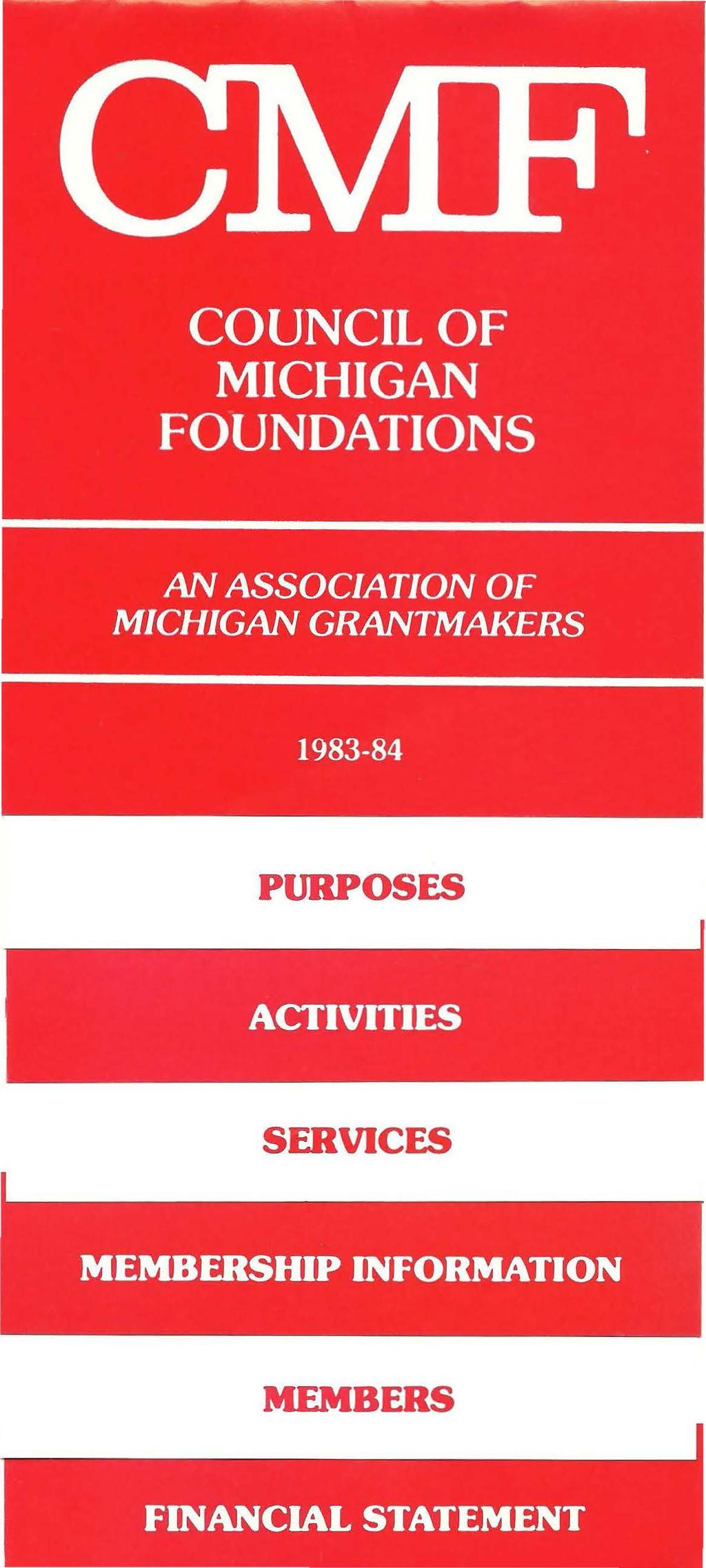 AN ASSOCIATION OF MICHIGAN GRANTMAKERS