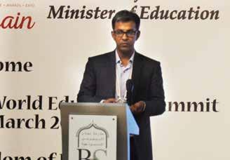 Arunabh Singh, Director, Nehru World School, India sharing, thoughts during the