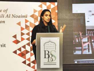 Noora Isa Al Khalifa, Director of Technology, The Bahrain Bayan School sharing her thoughts at the summit.