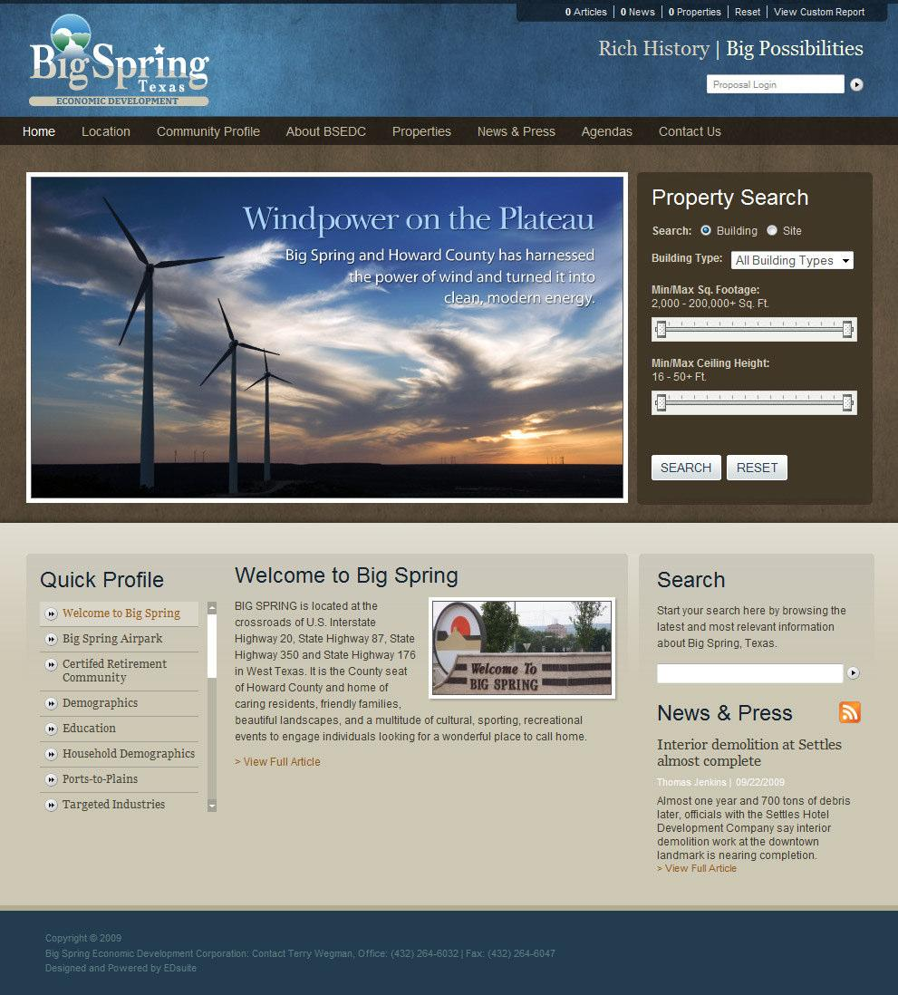 Multimedia The Big Spring EDC website is very user friendly and informational.