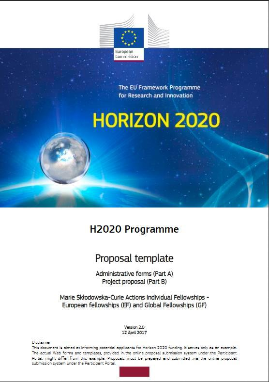 Preparation of the proposal Work Programme Guide for Applicants Templates EU