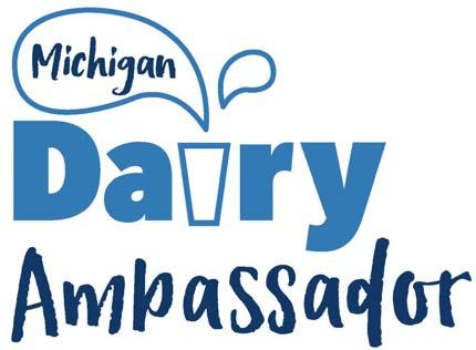 MICHIGAN DAIRY AMBASSADOR PROGRAM CODE OF CONDUCT AND ACKNOWLEDGEMENT 1.