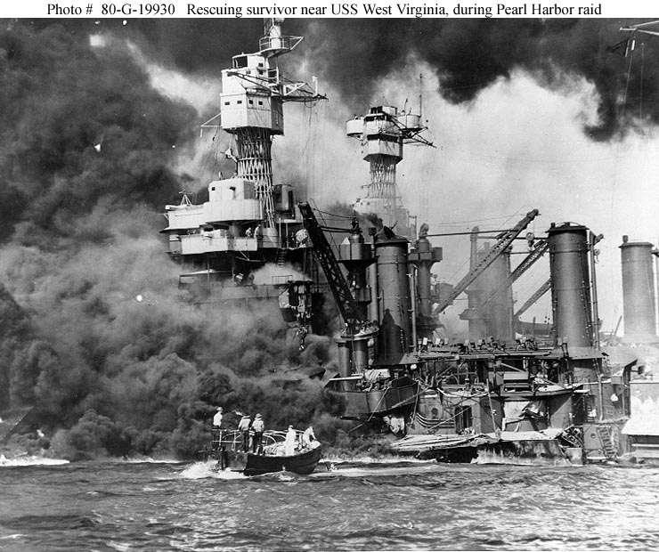 American fighter planes were destroyed and over 2500 Americans were killed. The United States lost three of its aircraft carriers, temporarily crippling the American navy.