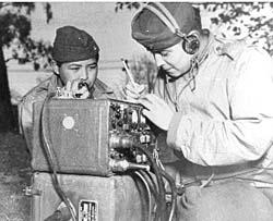 Navajo Code Talkers World War II (1939-1945) 1945) the United States Marines trained Navajo soldiers as code talkers.