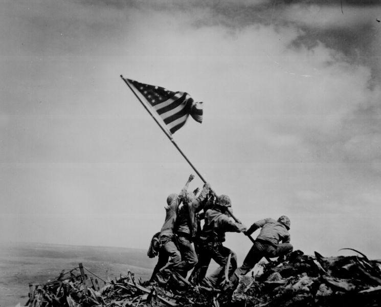 He then participated in the battle for the island and was among the group of Marines that took Mount Suribachi.