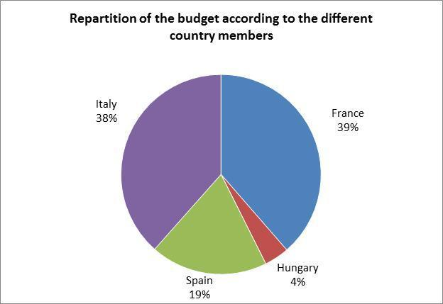 The repartition of the budget regarding each partner activities (detailed in section VI.