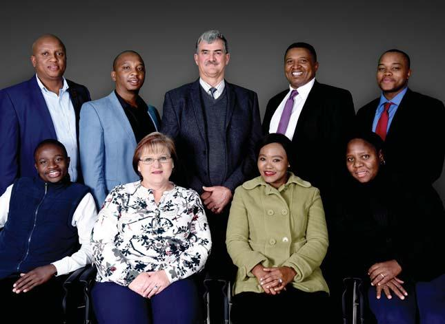 Khoza, Elsabe Horton, Onkgopotse Ntuli, Shelly Makhesa Back row left to right: Edgar Motlhabane, Humphrey