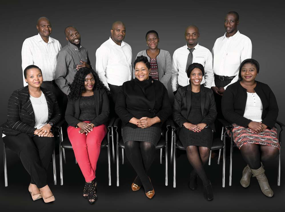 5.4 Bursaries Director: Bursaries: Ms Conny Makhabane 17 BURGARIES Front row left to