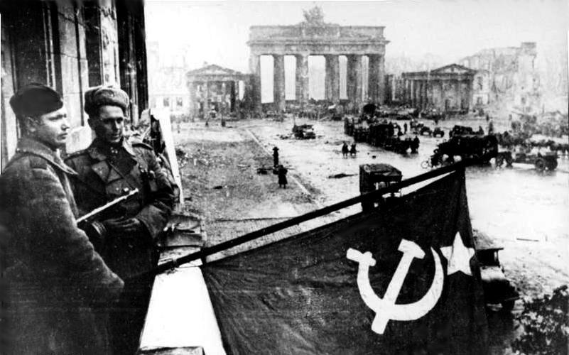 Two Soviet army groups attacked Berlin from the east and south, while a third attacked German