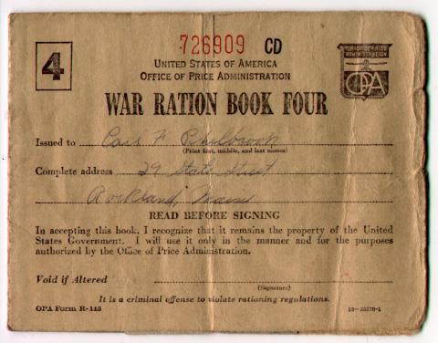 Rationing As time went on, the war industry needed more raw materials. One way Americans helped the war effort was through wartime conservation.