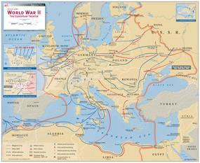 Major WWII events and battles Many battles were fought between the Allied nations and the Axis