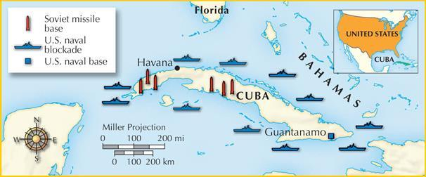 The Soviet Union sent nuclear missiles to Cuba in 1962, sparking the Cuban missile crisis.