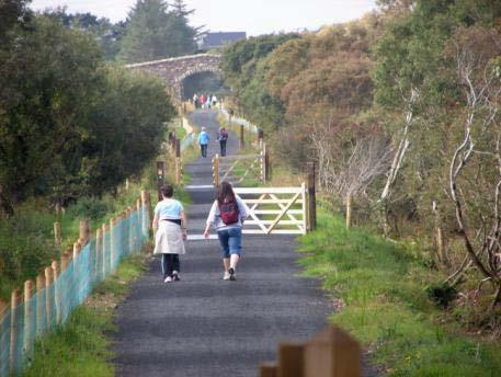 Slí na Slainte Community walks / Trails Woodland Mountain / High Level Walks Some of the most recent developments include the establishment of a total of twenty three National Loop Walks and the