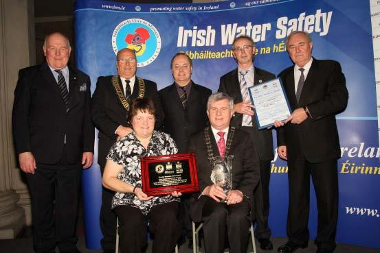 Water Safety Presentation of the All Ireland Inter Local Authority Charles Thompson Water Safety Award to Mayo Co. Co. in November 2010.