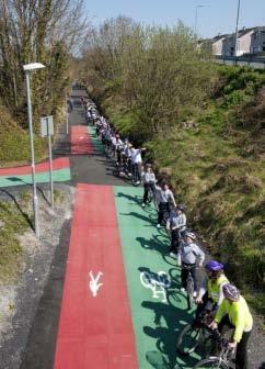 It has been extraordinarily successful in promoting walking and cycling in the town and its environs.