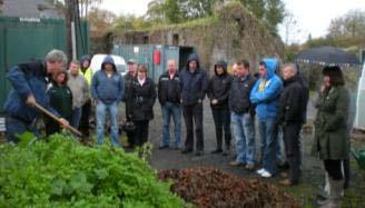 Section of the audience who attended the composting and wildlife gardening workshop in Bangor Erris.