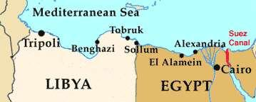 Egypt s Suez Canal was key to reaching the oil fields of the Middle East. Within a week Italian troops had pushed 60 miles inside Egypt, forcing British units back.
