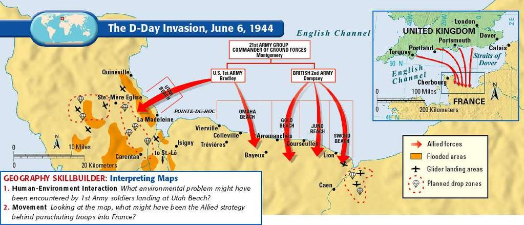 Thousands of planes, ships, tanks and landing craft and more than three million troops awaited the order to attack.