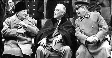 Yalta: February, 1945 FDR wants quick Soviet entry into Pacific war.