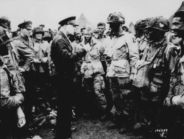 Gen. Eisenhower Gives the Orders for D-Day [ Operation Overlord ] US General Dwight Eisenhower was chosen by the Big 3 at