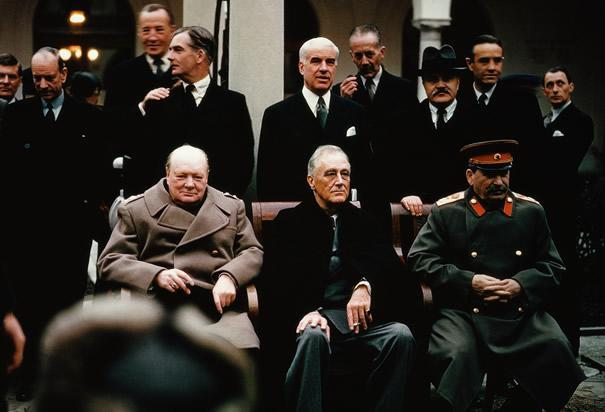 3 Rebuilding Begins The Yalta Conference February 1945, FDR, Churchill, Stalin meet in Yalta - discuss post-war world FDR, Churchill concession: temporarily divide Germany into 4 parts Stalin