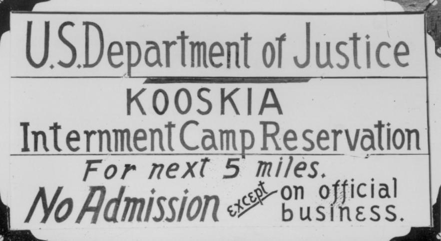 Army forces 110,000 Japanese Americans into prison camps 1944 Korematsu v.