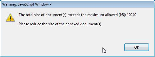 In 2017 you can use a maximum of 10.240 kb for all your attachments, meaning that you can have files of different sizes as long as their total combined size does not exceed this limit.