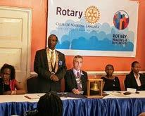 The result was a decision to allow 6 Rotaractors to join the club each year with the proviso being that they needed to have been wither President of their club or held District office.