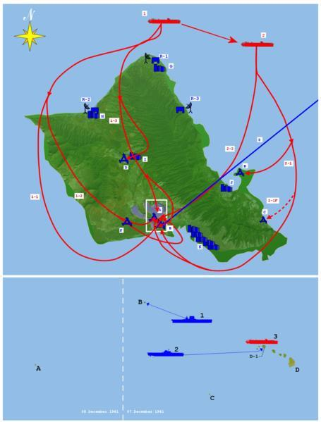 Battle Plan Japanese targets 1 st wave Airfields and