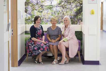 UL Hospitals Group Annual Review 2016 Below Pictured at the official opening of the new Breast unit were Ms Anne Merrigan, Consultant Breast Surgeon, Patient Ms Helen Leo and Prof Colette Cowan, CEO,