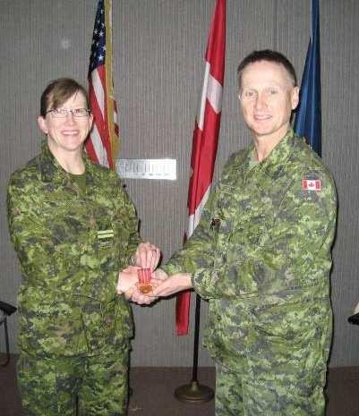 Maj Frederic Ferron and Sgt Shaun Molyneaux from Det Borden attended the graduation.