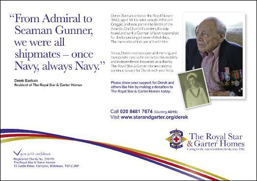 Derek Banham s Story Now a resident at The Royal Star & Garter Homes, Derek Banham served in the Royal Navy from 1943 to 1946.