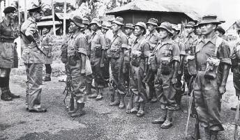 In November 1965 the 2nd Bn 10th Gurkha Rifles was ordered to dominate a position 5000 metres inside the border between Malaysia and Indonesia near the Bau District of Sarawak.