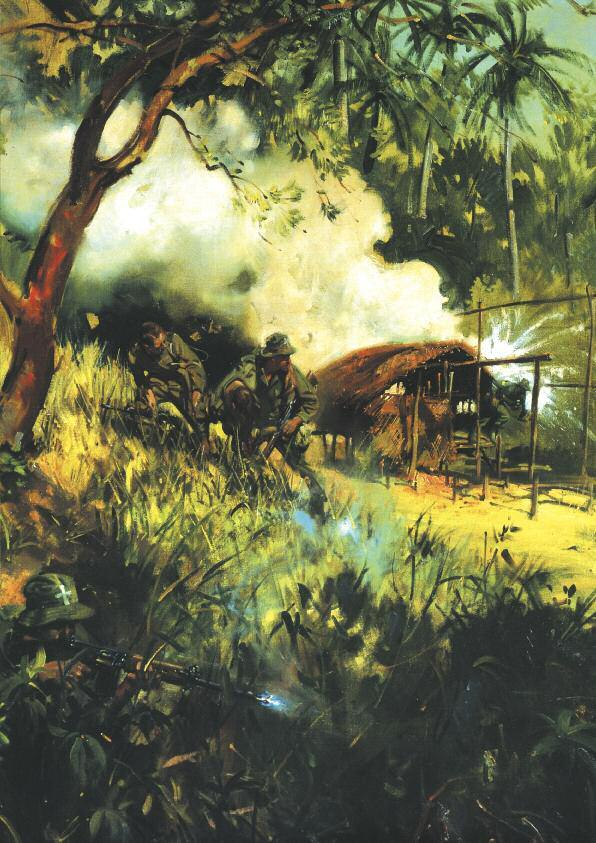 THE ROYAL GREEN JACKETS Although The Rifle Brigade had distinguished itself in the Malayan Emergency, it was the Borneo campaign that united the three Regiments that had formed the Green Jackets