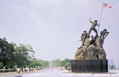 TUGU NEGARA Tugu Negara literally National Monument in Malay, is a sculpture that commemorates those who died in Malaysia's struggles for freedom, principally against the Japanese occupation during