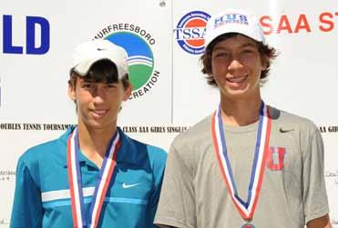 School (Memphis, TN) Doubles Champions Michael Apple &
