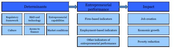 ENTREPRENEURSHIP MODEL Reflects the key factors affecting entrepreneurial performance Reflects the target